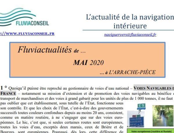 L'actualité de la navigation intérieure par Fluviaconseil – Mai 2020