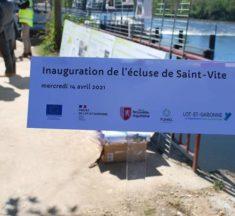 Inauguration de l'écluse de Saint-Vite (47)