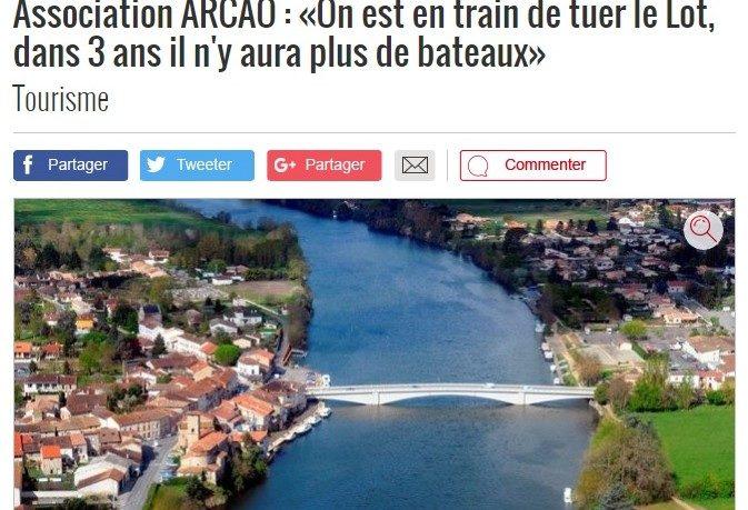 article La dépêche Lot Aval